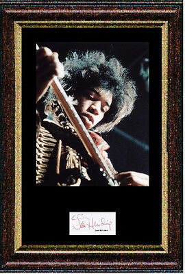 Reproduced autograph Jimi Hendrix signed item Mounted & Framed 12x16 inch