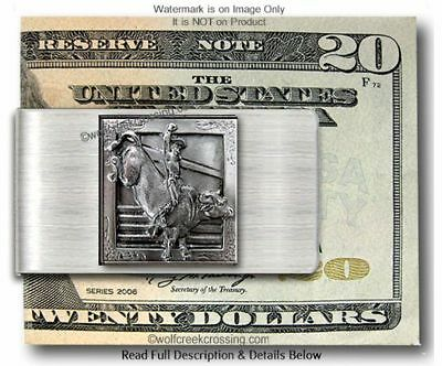 Bull Riding Rodeo Cowboy Money Clip  Horses Bareback Bucking Bronc Pbr Nfr  *