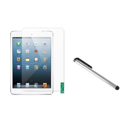Anti-Glare LCD Protector Shield+Silver Touch Stylus Pen For iPad Mini
