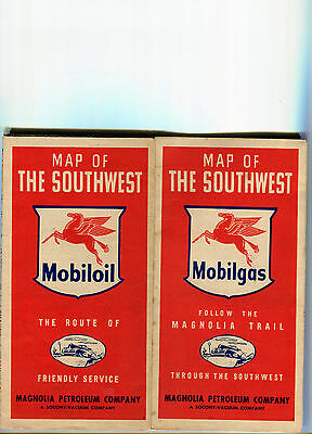 1948 Mobil Southwest Vintage Road Map