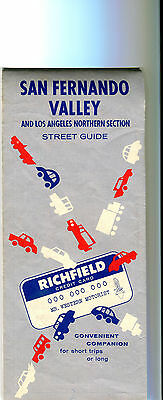 1962 Richfield San Fernando Valley Vintage Road Map