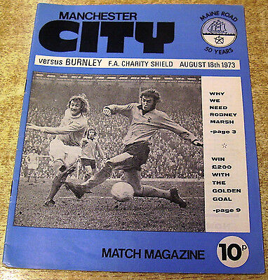 1973 FA CHARITY SHIELD - MANCHESTER CITY v BURNLEY