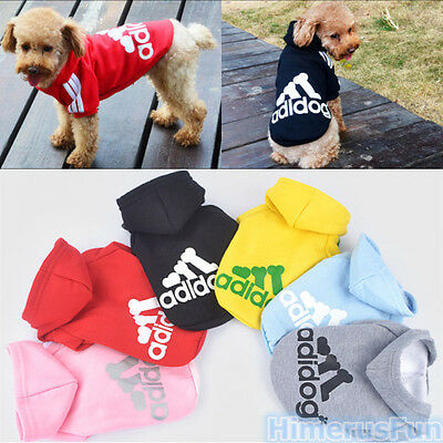 Pet Puppy Dog Cat Autumn Winter Coat Clothes Hoodie Sweater Costumes Size S-XXL