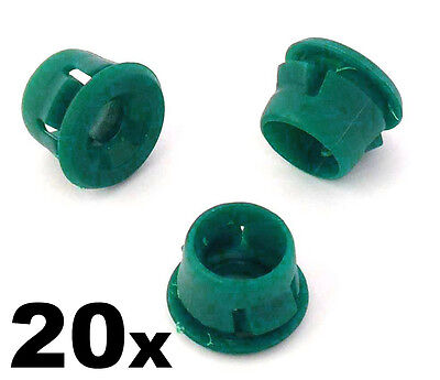 20x BMW Side Skirt & Sill Moulding Clips- Green Plastic Grommets 51711932996
