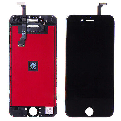 USA New Black Touch Digitizer + LCD Display Screen Assembly for iPhone 6  4.7""