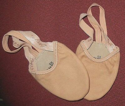 Nwt Capezio Pirouette Ii Lyrical Shoes Half Ballet H061 Canvas Nude Adult Ballet