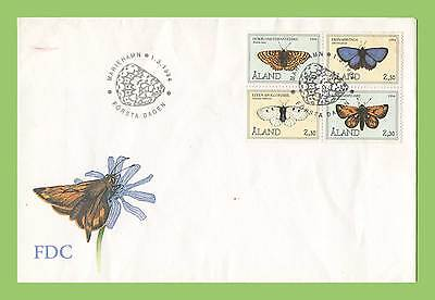 Aland 1994 set of four Butterflies First Day Cover