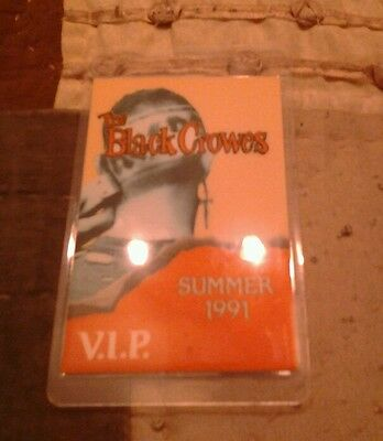 The Black Crowes 1991 Summer Tour Backstage Laminate Pass