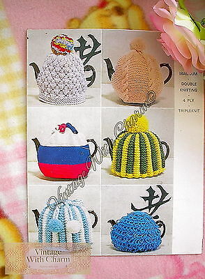 Vintage 1960 Knitting Pattern Tea Cosy 6 Fun styles! JUST 99p !!!!