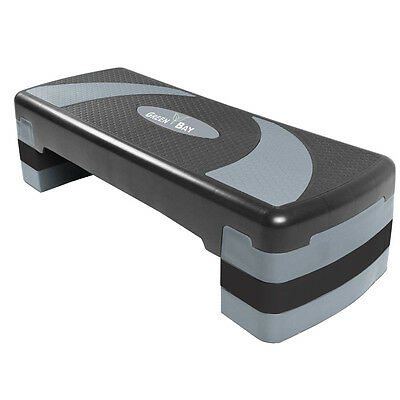 Grey Adjustable Aerobic Step Stepper 3 Level Height Yoga Board Home Exercise