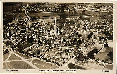 Huntingdon. General View from the Air # 9849 by Aerofilms.