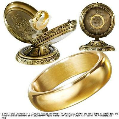 The Hobbit: The One Cast Metal Ring - New & Official In Display Case With Box