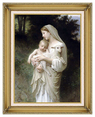 Framed Canvas Wall Art Print Innocence William Bouguereau Painting Reproduction