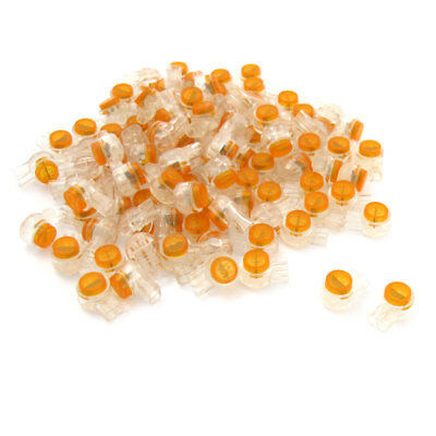 100 pcs orange transparent Drücker Kabel UY Kabelverbinder  Scotchlok Konnektor