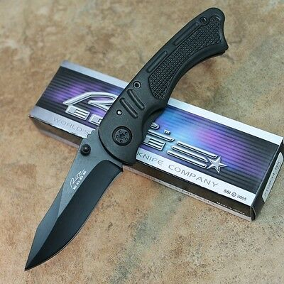 "Black Cyclone Folder 4"" Linerlock Pocket Knife Rite Edge NEW 210834-BK zix"