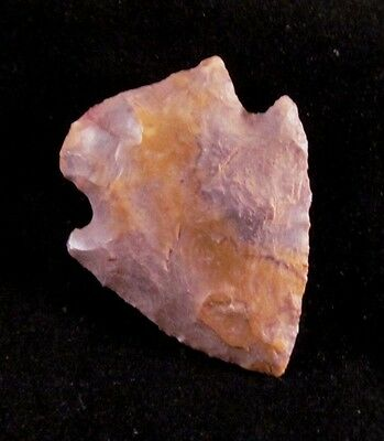 """STUNNING 1 1/2"""" SANDY BROWN SNYDER  Boone Co, MO  Authentic Indian Arrowhead"""