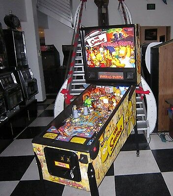 THE SIMPSONS PINBALL PARTY BY STERN w ADDED MODS ~ $199 SHIPPING