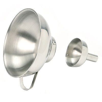 NORPRO 255 Stainless Steel Wide Mouth Funnel With Removable Spout