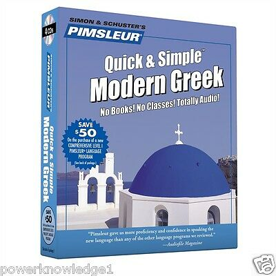 New 4 CD Pimsleur Learn to Speak Greek Language
