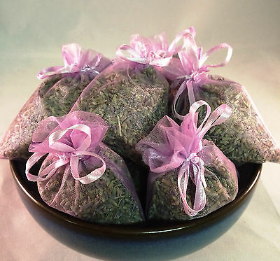 Set of 10 Lavender Sachets made with Orchid Organza Bags