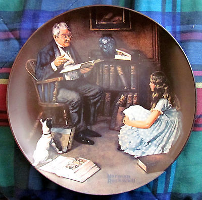 Norman Rockwell Heritage - The Storyteller (1984) - Collector's Plate - NM