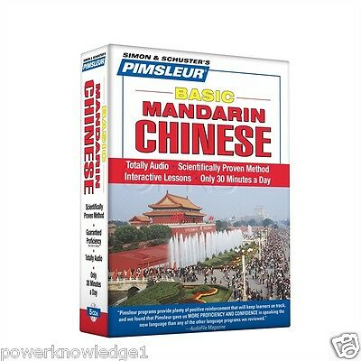 NEW 5 CD Pimsleur Learn to Speak Basic Mandarin Chinese Language