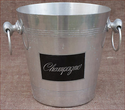 French Art Deco Aluminum Champagne Cooler Ice Bucket 1940