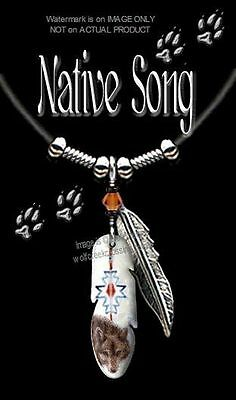 """NATIVE SONG WOLF NECKLACE for MALE or FEMALE WILD WOLVES ART GIFT SALE 24"""" L*"""