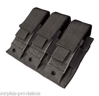 Condor MA52 Triple Pistol Mag Pouch - Black Tactical magazine holster