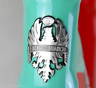 SILVER Bike Bicycle Badge Bianchi Light Alloy Road MTB Frame Decals Sticker