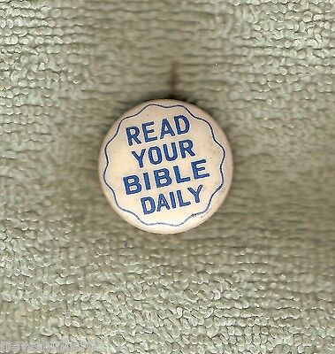 #D59.  Tin Badge - Read Your Bible Daily