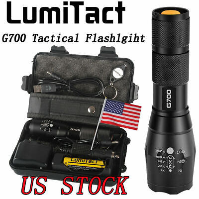 10000lm Genuine Lumitact G700 Cree L2 LED Tactical Flashlight Military Torch new