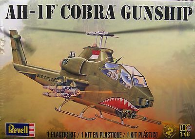 REVELL 1:48 SCALE U.S. ARMY AH-1F COBRA GUNSHIP HELICOPTER PLASTIC MODEL KIT