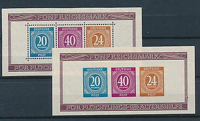 [88205] Germany 1946 Good sheet perfored and imperfored Very Fine MH