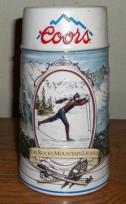 Coors Beer The Rocky Mountain Legend Series 1991 Stein/Mug #'d  !!!NICE!!!