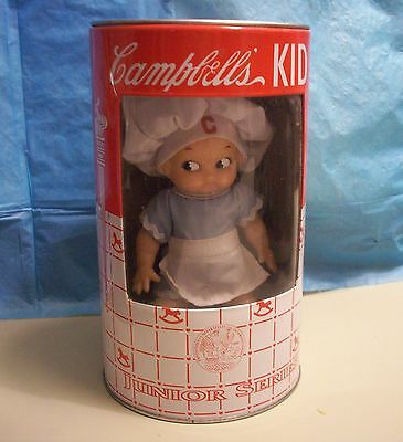 CAMBELL'S KID DOLL IN  ORIGINAL BANK TIN