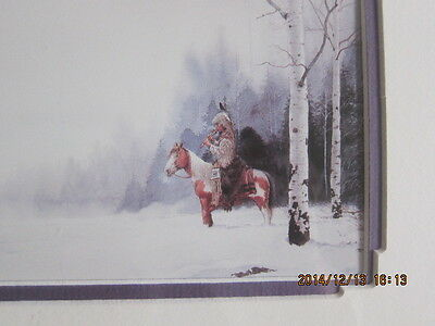 nAVAJO MARK SILVERSMITH gorgeous print INDIAN/HORSE matted