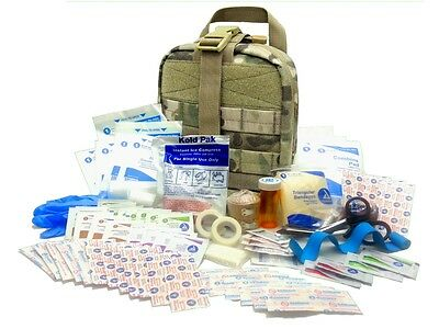 Military Rip-Away EMT First Aid Kit IFAK Level 1 for Army Medic - Multicam #FA16