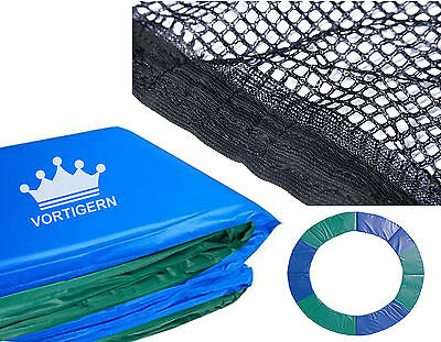 Set of Pads Padding & Safety Enclosure Net Netting for 6ft Diameter Trampoline