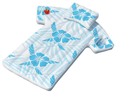 Swimline 90604 Inflatable Fun Swimming Pool Hawaiian Cabana Shirt Float Lounger