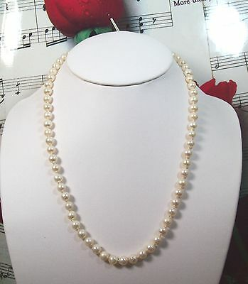 "Genuine Cultured Pearls 6 6 1/2mm Necklace 18"" With 14k Clasp.CPNK001"