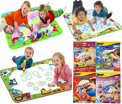 TOMY Aquadoodle - Rainbow, Animal Sounds Winnie The Pooh Mini Mat Peppa Pig, Pen