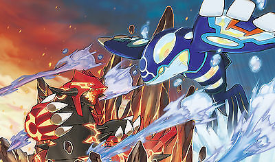 Custom Playmat • Tappetino Artwork POKEMON ORAS GROUDON KYOGRE • Limited Edition