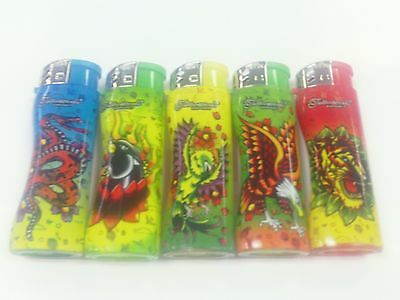 Ed Hardy Tattoo Lighter By Neon Set Of 5 One Of Each Design New Refillable