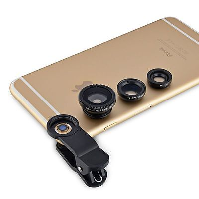 3in1 Fish Eye+Wide Angle Macro Telephoto Lens Camera for iPhone 6 5S 5 5C 6 Plus