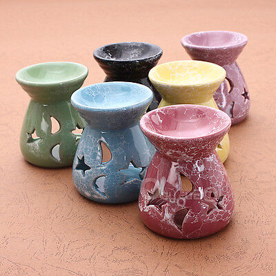 Ceramic Oil Burners Fragrance Lavender Aromatherapy Scent Candle Essential NEW