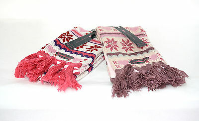 Girls Lambswool Knitted SCARF *ONE SIZE* (2 COLOURS) Warm/Winter/Fleece GL189
