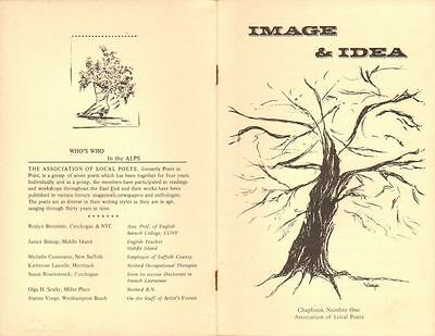 IMAGE AND IDEA 1977 Assoc of Local Poets, NY, Chapbook #1 - SIGNED
