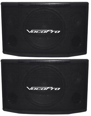 "Pair of (2)Vocopro SV-502 10"" 500 Watt 2 WAY Stereo Karaoke  Vocal Speakers"