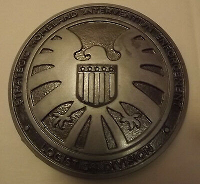 Marvel Agents of shield badge, Agent Coulson, Avengers, resin movie prop